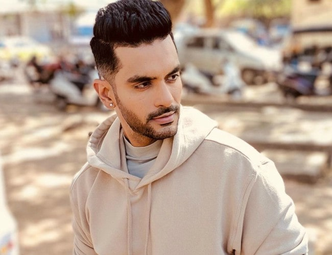 Angad Bedi in an Instagram post as seen in September 2019