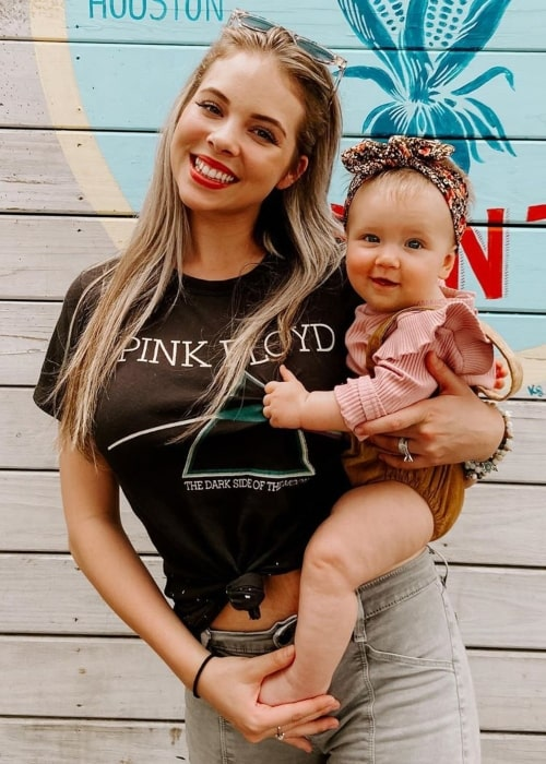 Anna Margaret as seen in a picture taken in Houston, Texas with her daughter in March 2020