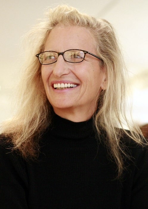 Annie Leibovitz at her exhibition in San Francisco in California in 2008