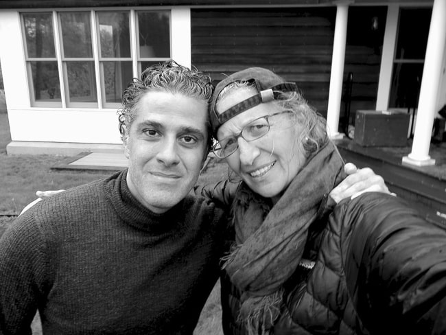 Annie Leibovitz sharing her selfie with Marco Anelli in May 2013