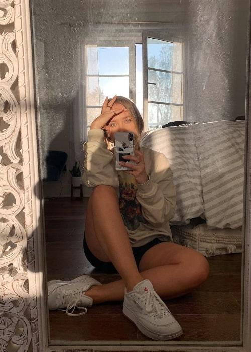 Ashley Nichole as seen in a selfie taken in Los Angeles, California in April 2020