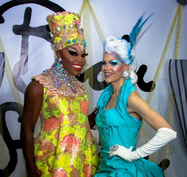 Asia O'Hara (Left) and Blair St. Clair smiling for the camera in 2018