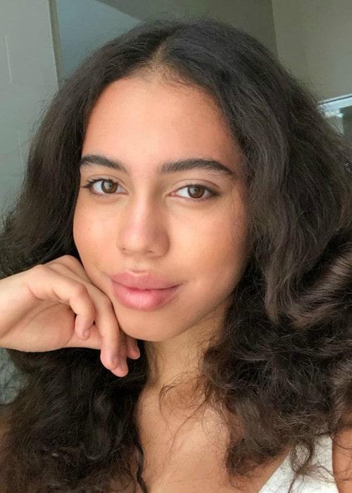 Asia Ray in an Instagram selfie as seen in November 2019