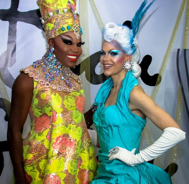 Blair St. Clair (Right) posing for a picture alongside Asia O'Hara in 2018