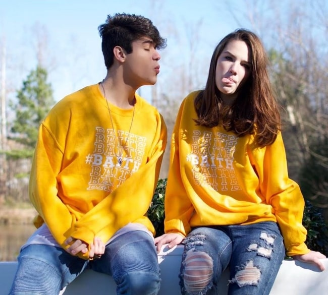 Brandon Cardoso and Faith Moormeier as seen while posing for the camera in January 2020