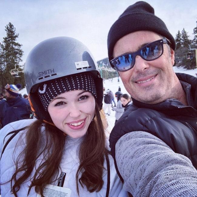 Carlos Bernard as seen while taking a selfie alongside his daughter in December 2019