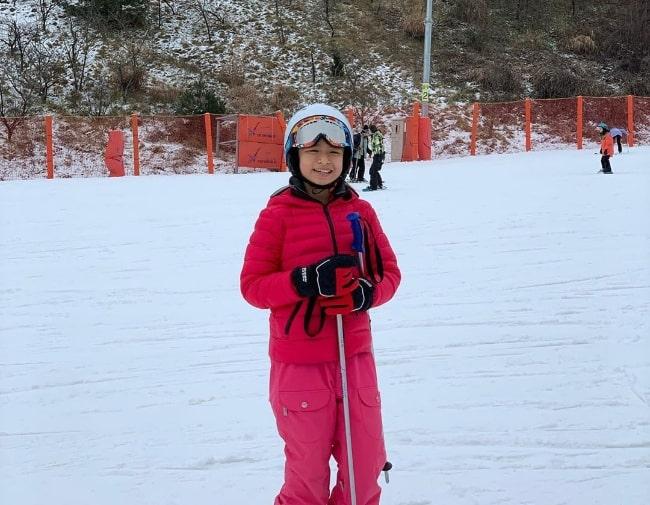 Celine Tam enjoying her ski trip in January 2020