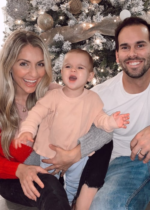Chantelle Paige with her husband and daughter, as seen in December 2019