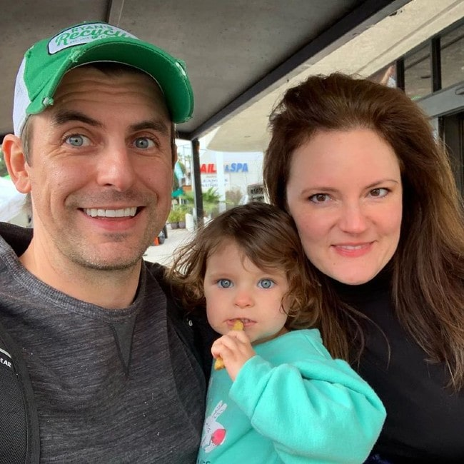 Cooper Barnes with his wife and daughter as seen in January 2019
