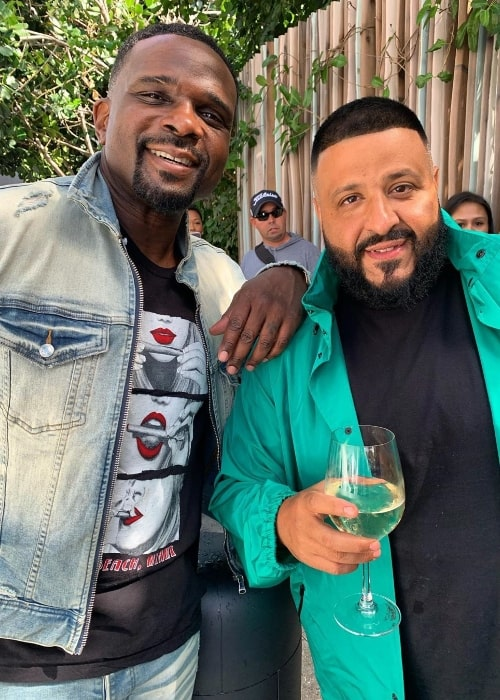 Darius McCrary (Left) in a picture alongside DJ Khaled at Swan, Miami in February 2020