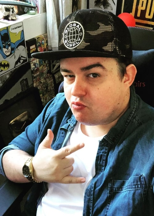 Daz Black as seen while taking a selfie in February 2020