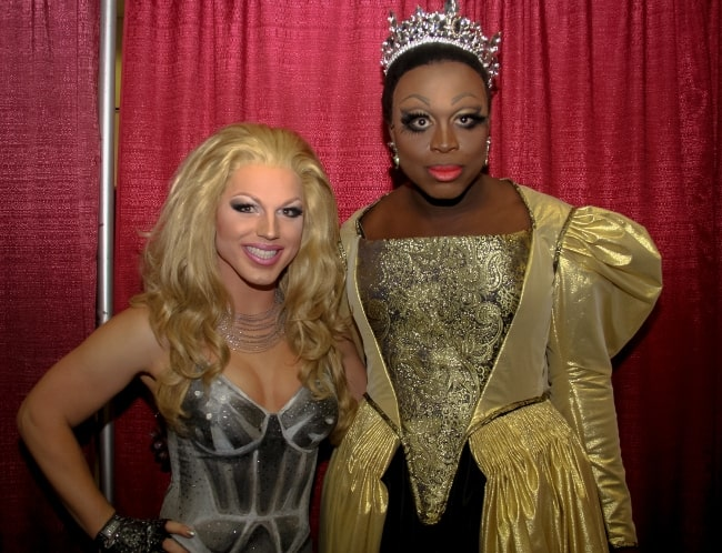 Derrick Barry (Left) and Bob the Drag Queen at RuPaul's DragCon 2017