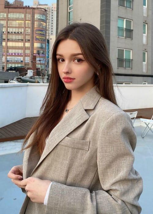 Elina Karimova as seen in April 2020
