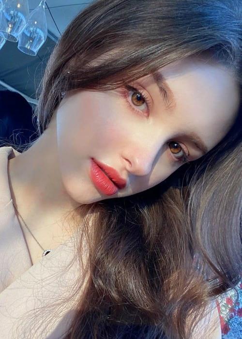 Elina Karimova in an Instagram selfie as seen in April 2020