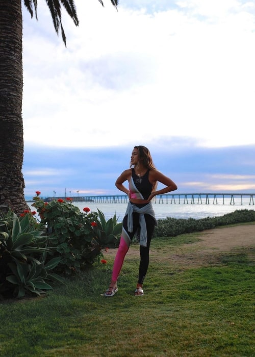 Eryn Krouse as seen while posing for a picture in Santa Barbara, California in March 2020
