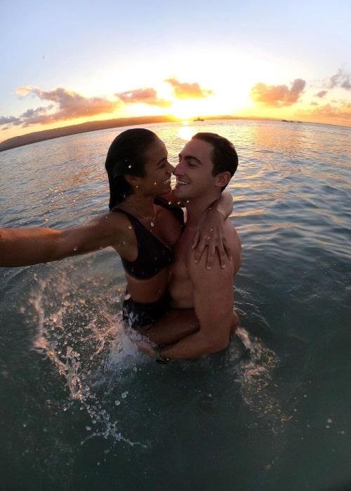 Eryn Krouse taking a selfie along with Michael Bailey at Club Med Michès Playa Esmeralda in December 2019