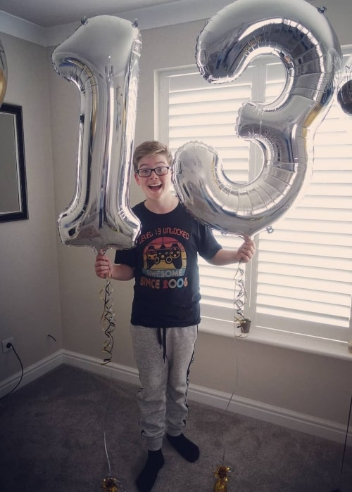 EthanGamerTV posted this picture on his birthday as seen in July 2019