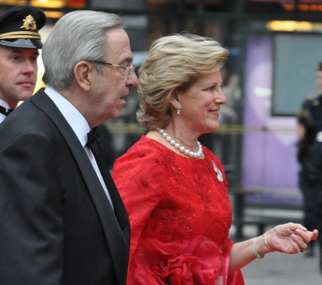 Former Queen Anne-Marie of Greece and Former King Constantine in Stockholm at the celebrations of the wedding of Victoria, Crown Princess of Sweden in June 2010