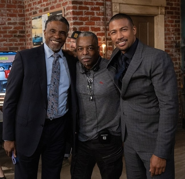 From Left to Right - Keith David, LeVar Burton, and Charles Michael Davis in March 2020