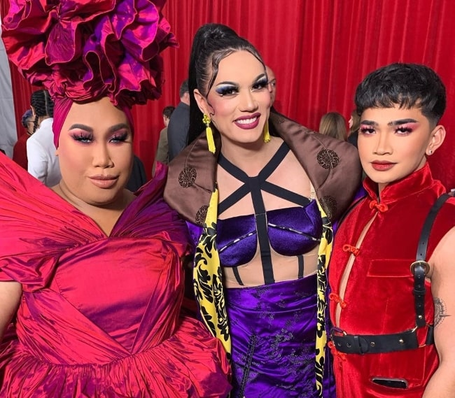 From Left to Right - Patrick Starrr, Manila Luzon, and Bretman Rock in Hollywood, California in March 2020