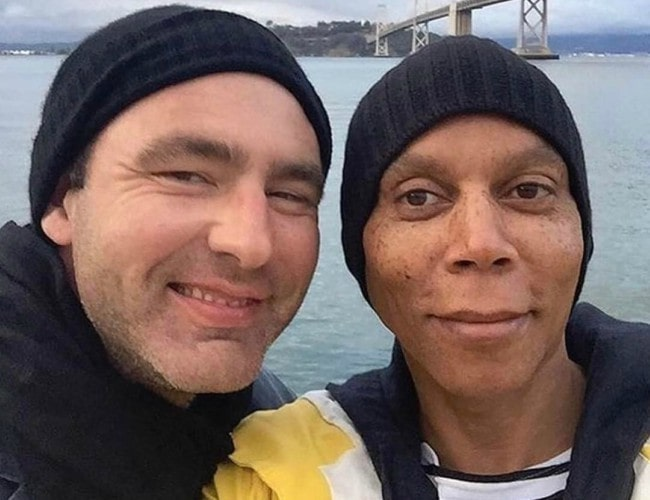 Georges LeBar (Left) and RuPaul in an Instagram post in March 2017