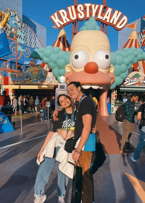 Gisselle Kuri as seen in a picture taken with her beau Carlos Colosio at Universal Studios Hollywood in February 2020