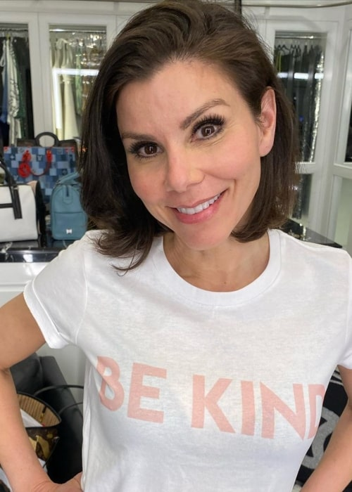 Heather Dubrow as seen in a picture taken in March 2020