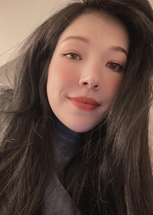 Hsu Wei-ning as seen while taking a selfie in January 2020