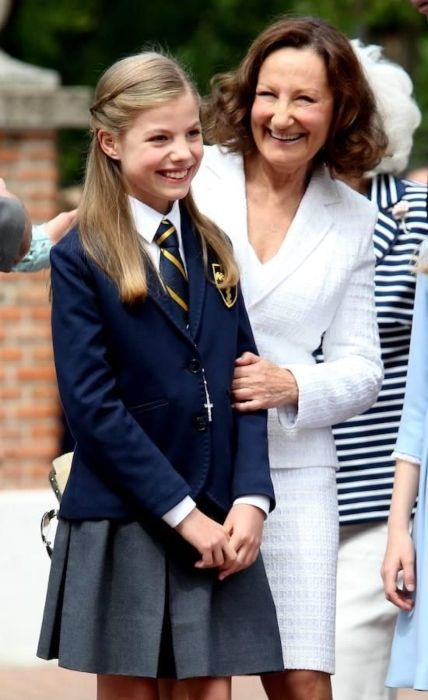 Infanta Sofía of Spain as seen on the occasion of her first communion