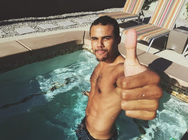 Jacob Artist soaking up the sun in October 2017