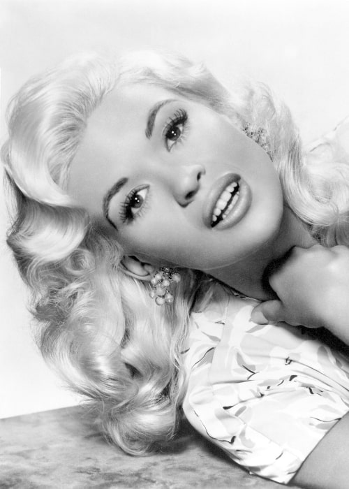 Jayne Mansfield as seen in the promotional photo for the film 'Kiss Them for Me' (1957)
