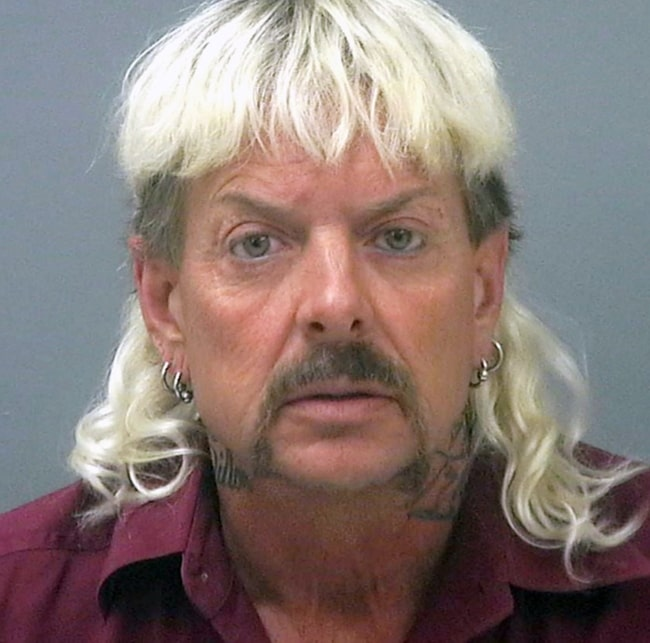Joe Exotic as seen in his mugshot from Santa Rose County Jail