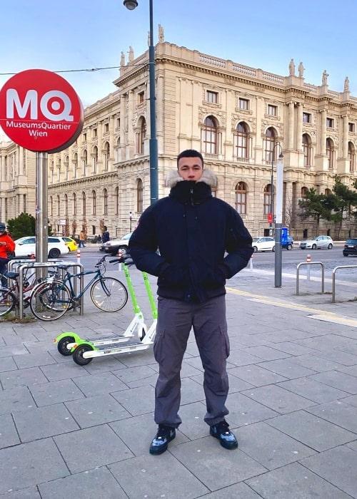 Jordon Wilson as seen in a picture taken in Vienna, Austria in January 2020