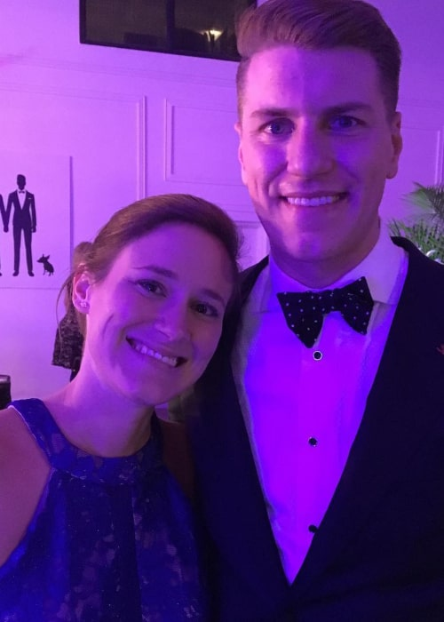 Kaelyn Petras and her brother, as seen in August 2017