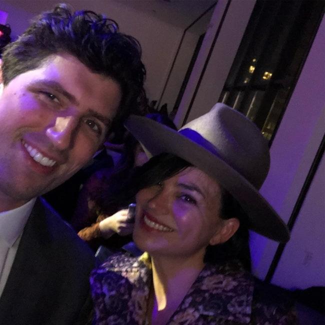 Karen Duffy as seen alongside Andrew Muscato in November 2018