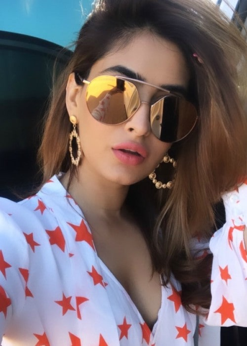 Karishma Sharma in an Instagram selfie as seen in January 2020