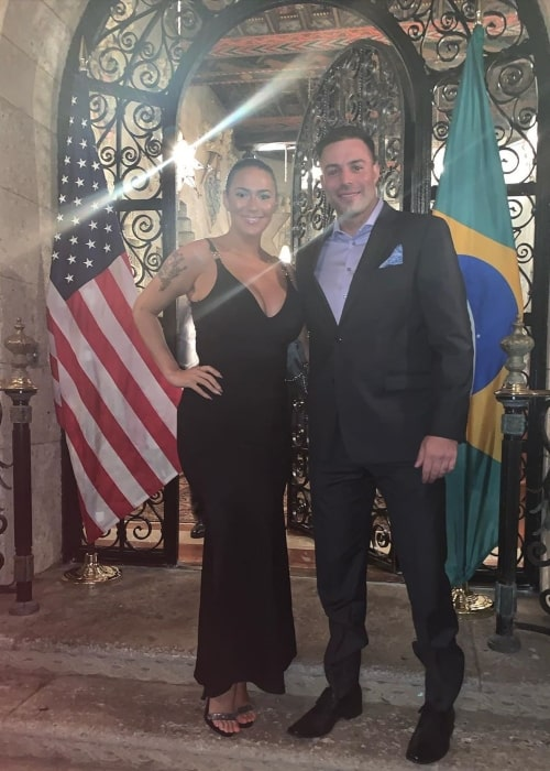 Kaya Jones as seen in a picture taken with her love Derek at the Mar-a-Lago in March 2020