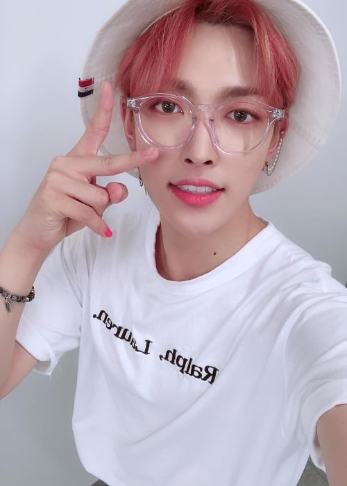 Kim Hong-joong taking a selfie in May 2019