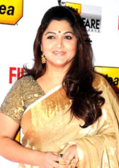 Kushboo Sundar resplendent at the 60th Filmfare Awards South ceremony