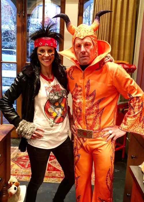 Lance Armstrong and his girlfriend in fun costumes for the Halloween party in November 2019