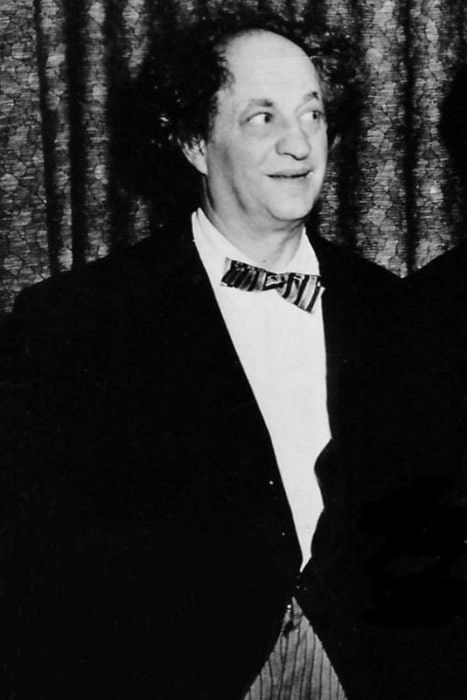 Larry Fine seen in a promotional image from 1962