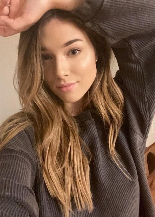 Lauren Summer Barrett as seen in a selfie taken in Los Angeles, California in March 2020