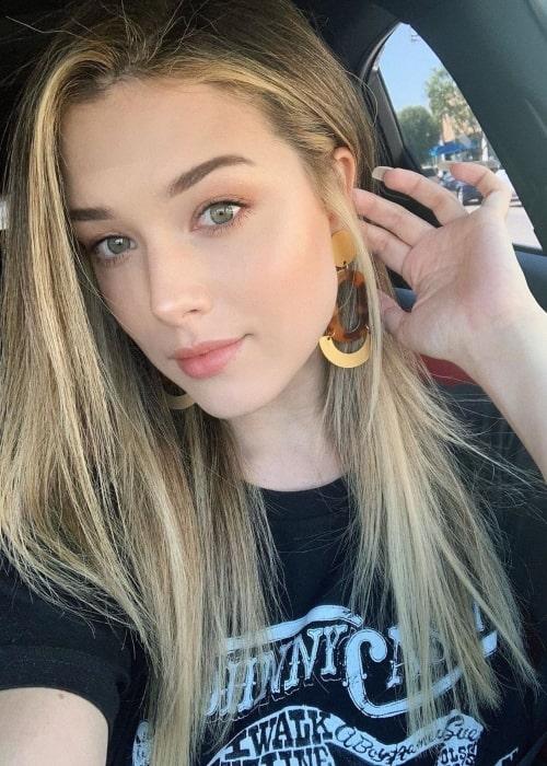 Lauren Summer Barrett as seen in a selfie taken in Los Angeles, California in September 2019