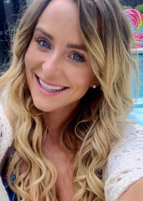 Leah Messer as seen in a selfie taken in July 2018