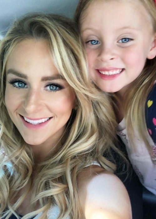 Leah Messer as seen in a selfie taken with her daughter Adalynn Faith somtime in 2018