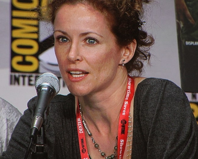 Leslie Hope pictured at San Diego Comic-Con International 2011