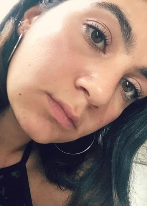 Lina Leandersson as seen in a selfie taken in January 2018