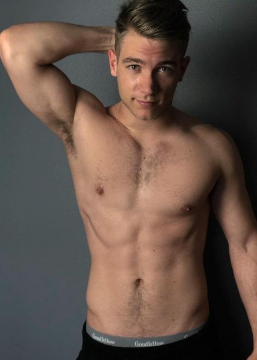 Lucas Adams as seen in March 2019