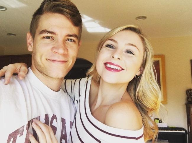 Lucas Adams with his girlfriend in September 2017