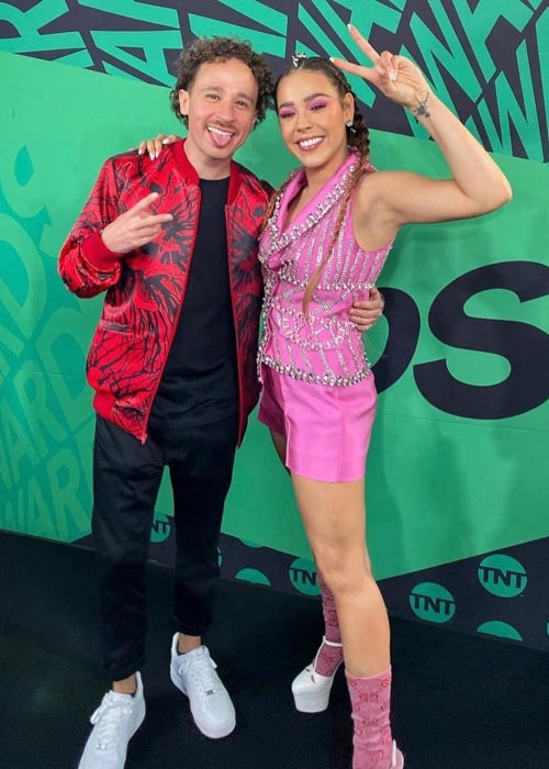 Luisito Comunica and Mexican actress Danna Paola, as seen in March 2020